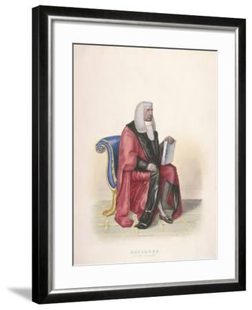 Recorder of the City of London, Sir John Silvester, in Civic Costume, 1825-Thomas Lord Busby-Framed Giclee Print