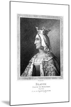 Blanche of Castile (1188-125), Niece to King John-Thomas Trotter-Mounted Giclee Print