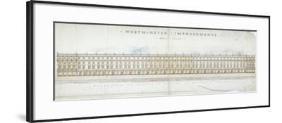 Elevation of Proposed Houses in Victoria Street, Westminster, London, C1845-Tyler-Framed Giclee Print