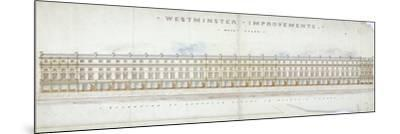 Elevation of Proposed Houses in Victoria Street, Westminster, London, C1845-Tyler-Mounted Giclee Print