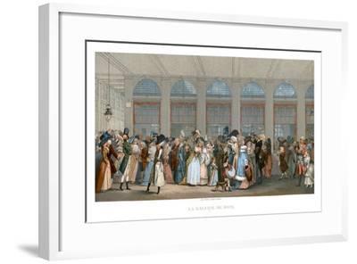 The Galerie De Bois, Paris, 1787- Urrabieta-Framed Giclee Print