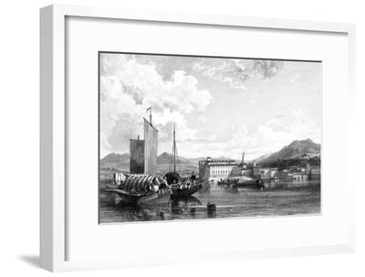 Isola Bella, Lago Maggiore, Italy, 19th Century-W Miller-Framed Giclee Print