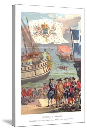 Royal Flag, Galleon Flag and Traders Flag- Urrabieta-Stretched Canvas Print