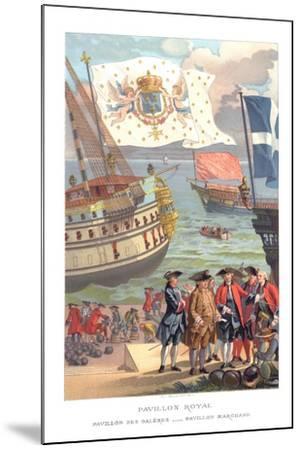 Royal Flag, Galleon Flag and Traders Flag- Urrabieta-Mounted Giclee Print