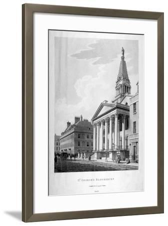 View of the Church of St George, Bloomsbury, London, 1799-Thomas Malton II-Framed Giclee Print