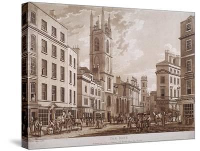 Bank of England, Threadneedle Street, London, 1781-Thomas Malton II-Stretched Canvas Print