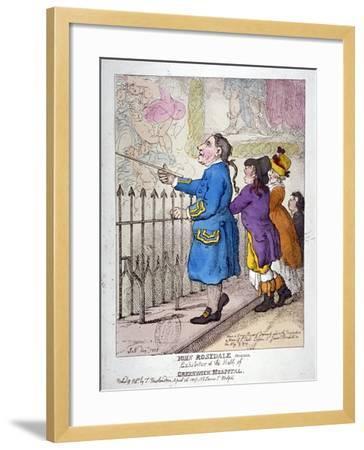John Rosedale, Mariner, Exhibitor of the Hall of Greenwich Hospital, 1807-Thomas Rowlandson-Framed Giclee Print