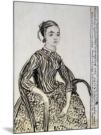 Portrait of a Young Lady (La Mousm), 1888-Vincent van Gogh-Mounted Giclee Print