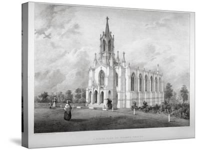 North View of the Church of St James, Clapham, London, C1850-W Eldridge-Stretched Canvas Print