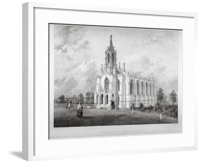 North View of the Church of St James, Clapham, London, C1850-W Eldridge-Framed Giclee Print