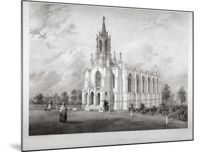North View of the Church of St James, Clapham, London, C1850-W Eldridge-Mounted Giclee Print
