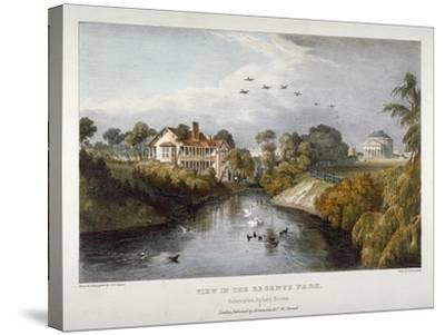 View in Regent's Park, St Marylebone, London, C1830-Thomas Mann Baynes-Stretched Canvas Print