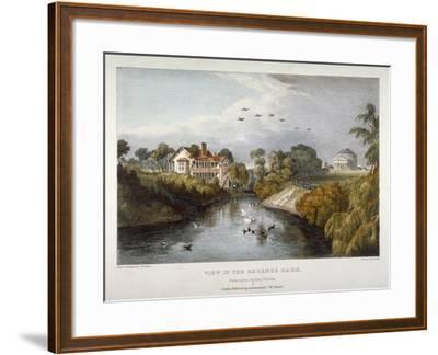View in Regent's Park, St Marylebone, London, C1830-Thomas Mann Baynes-Framed Giclee Print
