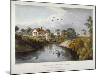 View in Regent's Park, St Marylebone, London, C1830-Thomas Mann Baynes-Mounted Giclee Print
