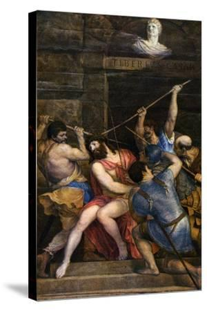 The Crowning with Thorns, C1542-Titian (Tiziano Vecelli)-Stretched Canvas Print