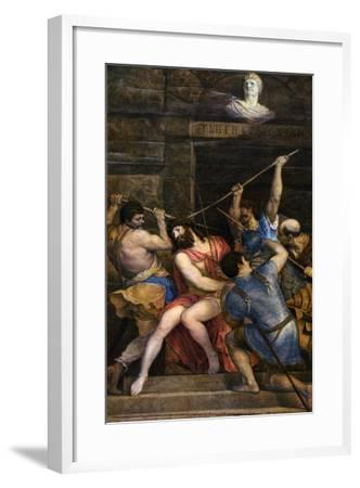 The Crowning with Thorns, C1542-Titian (Tiziano Vecelli)-Framed Giclee Print