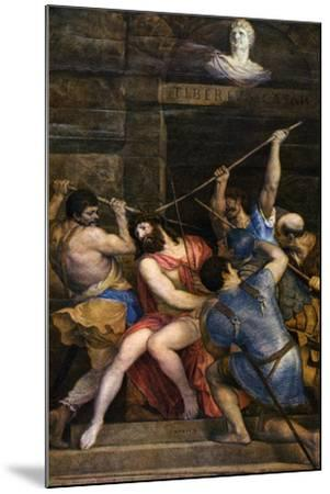 The Crowning with Thorns, C1542-Titian (Tiziano Vecelli)-Mounted Giclee Print