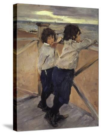 Children, 1899-Valentin Serov-Stretched Canvas Print