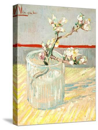 Sprig of Flowering Almond Blossom in a Glass, 1888-Vincent van Gogh-Stretched Canvas Print