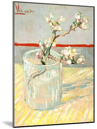Sprig of Flowering Almond Blossom in a Glass, 1888-Vincent van Gogh-Mounted Premium Giclee Print