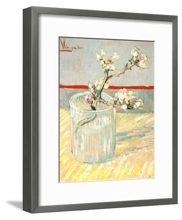 Sprig of Flowering Almond Blossom in a Glass, 1888-Vincent van Gogh-Framed Giclee Print