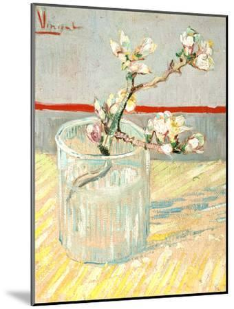 Sprig of Flowering Almond Blossom in a Glass, 1888-Vincent van Gogh-Mounted Giclee Print