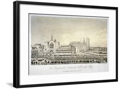 Procession Outside Westminster Hall, London, 1821-W Read-Framed Giclee Print