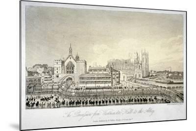 Procession Outside Westminster Hall, London, 1821-W Read-Mounted Giclee Print
