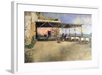 Taverna at Posillipo, 1886-Vincenzo Migliaro-Framed Giclee Print