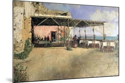 Taverna at Posillipo, 1886-Vincenzo Migliaro-Mounted Giclee Print