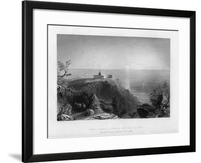 Looking Out to Sea from Mount Carmel, Israel, 1841-W Floyd-Framed Giclee Print