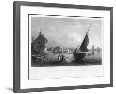 The Ancient 'Wishing-Gate, Liverpool, 1833-W Floyd-Framed Giclee Print