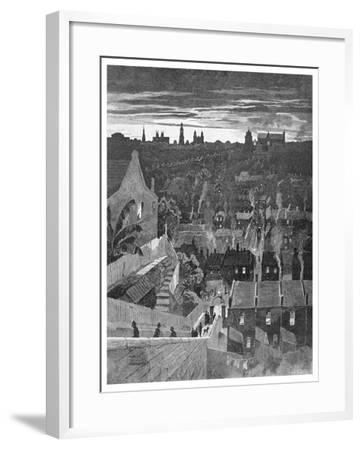 A Glimpse of Sydney from Darlinghurst, New South Wales, Australia, 1886-W Mollier-Framed Giclee Print