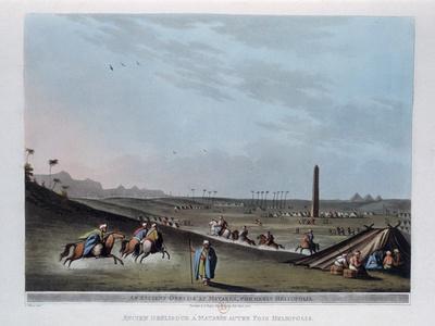 An Ancient Obelisk at Matarea, Formerly Heliopolis, Egypt, 1801-Thomas Milton-Framed Giclee Print