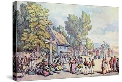 The Falmouth Road, Late 18th-Early 19th Century-Thomas Rowlandson-Stretched Canvas Print