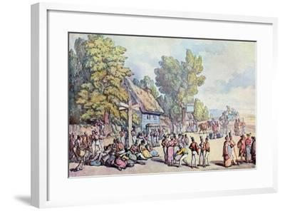 The Falmouth Road, Late 18th-Early 19th Century-Thomas Rowlandson-Framed Giclee Print