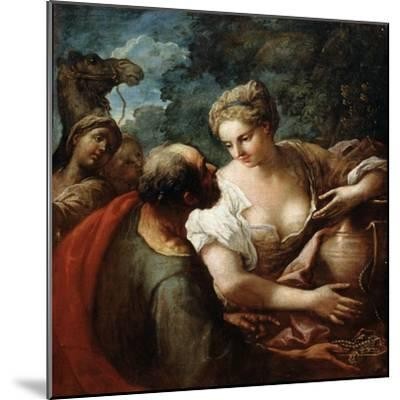 Rebekah at the Well, 16th Century-Titian (Tiziano Vecelli)-Mounted Giclee Print