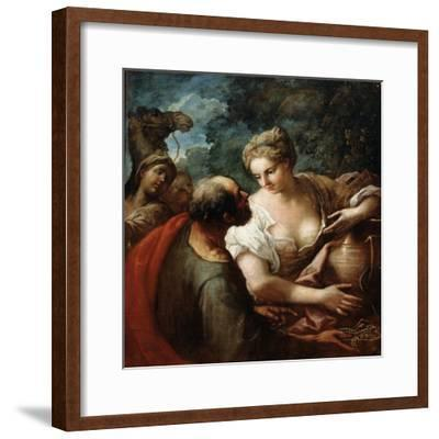 Rebekah at the Well, 16th Century-Titian (Tiziano Vecelli)-Framed Giclee Print