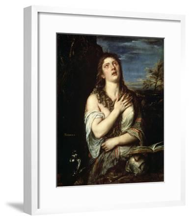 The Repentant Mary Magdalene, 1560S-Titian (Tiziano Vecelli)-Framed Giclee Print