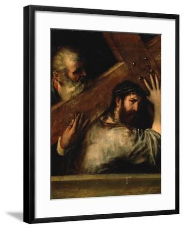 Christ Carrying the Cross, 1560S-Titian (Tiziano Vecelli)-Framed Giclee Print