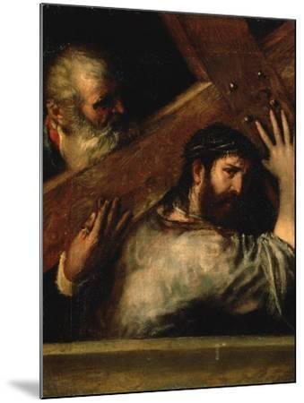 Christ Carrying the Cross, 1560S-Titian (Tiziano Vecelli)-Mounted Giclee Print