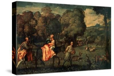 The Flight into Egypt, C1508-Titian (Tiziano Vecelli)-Stretched Canvas Print