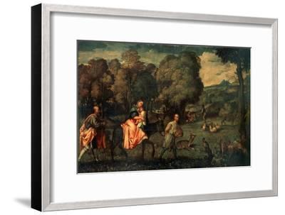 The Flight into Egypt, C1508-Titian (Tiziano Vecelli)-Framed Giclee Print