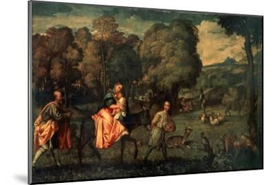 The Flight into Egypt, C1508-Titian (Tiziano Vecelli)-Mounted Giclee Print