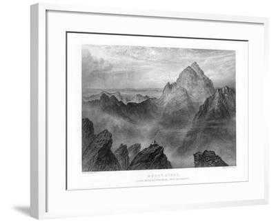 Mount Sinai: Jebel Musa as Seen from Jebel Katharina, 1887-W Forrest-Framed Giclee Print