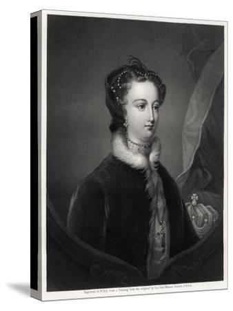 Mary Stuart, Queen of the Scots, 19th Century-W Holl-Stretched Canvas Print