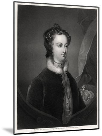 Mary Stuart, Queen of the Scots, 19th Century-W Holl-Mounted Giclee Print