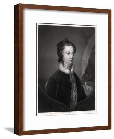 Mary Stuart, Queen of the Scots, 19th Century-W Holl-Framed Giclee Print