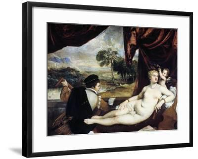 Venus and the Lute Player, C1565-1570-Titian (Tiziano Vecelli)-Framed Giclee Print
