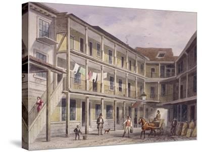 Aldgate High Street, London, C1850-Thomas Hosmer Shepherd-Stretched Canvas Print